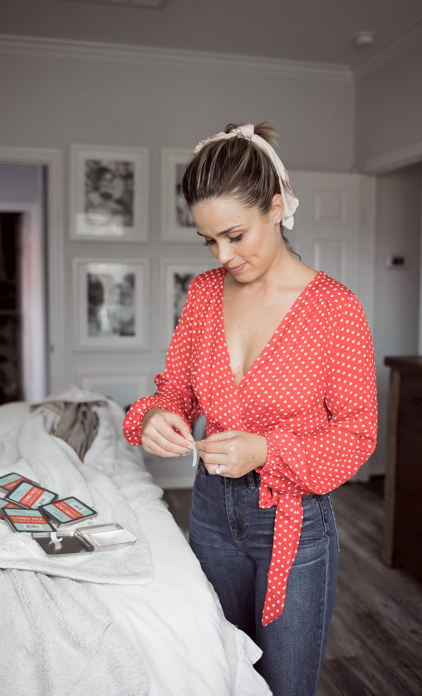 Houston Fashion blogger Uptown with Elly Brown shares how Double-Sided Fashion Tape will most likely fix all your wardrobe mishaps.
