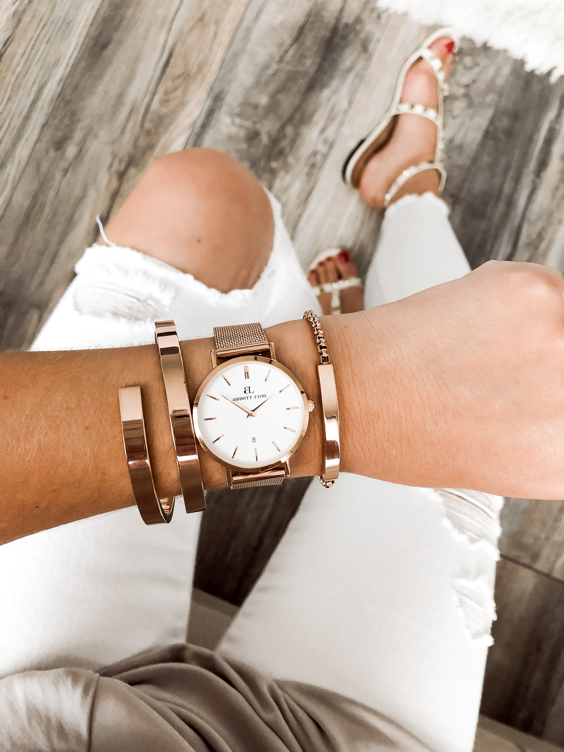 Houston fashion blogger Uptown with Elly Brown wears Abbott Lyon jewelry