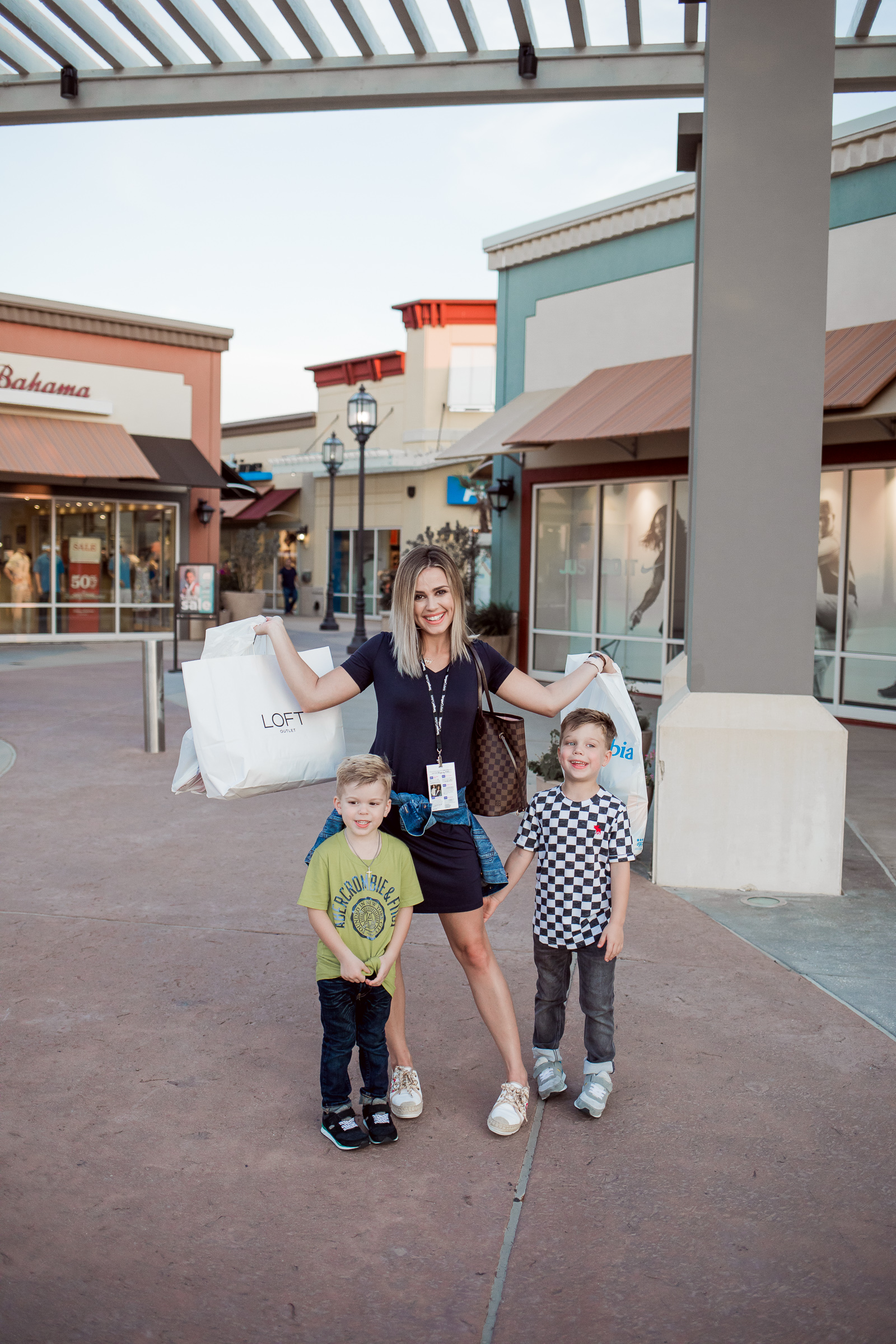 Houston Fashion blogger Uptown with Elly Brown shares how to make Outlet Shopping easy for the whole family, and how to score the best deals.