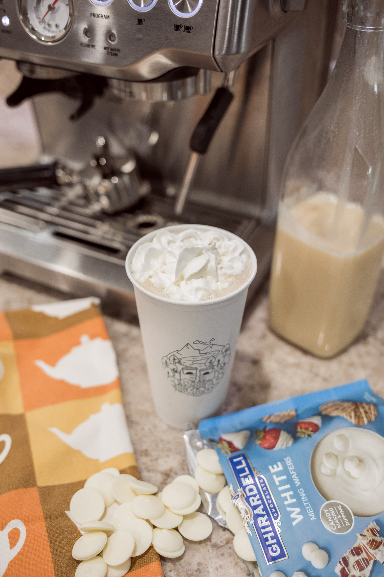 Houston lifestyle blogger Uptown with Elly Brown shares her tried and true DIY Starbucks White Mocha copycat recipe.