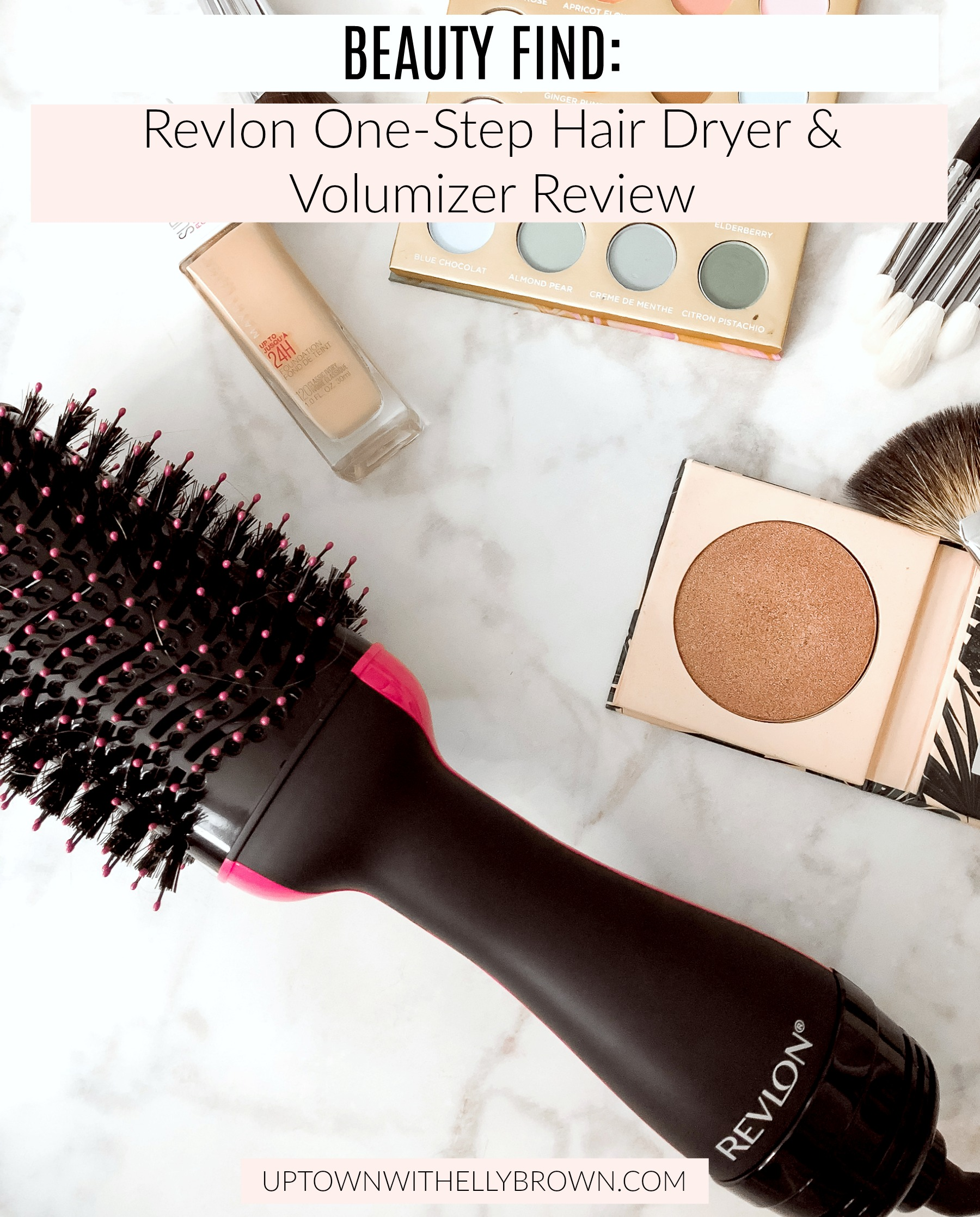 Houston beauty blogger Uptown with Elly Brown reviews the Revlon One-Step Hair Dryer & Volumizer and why she won't ever use a regular hair dryer!