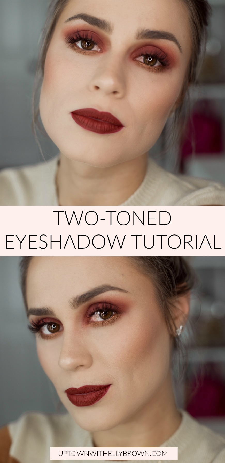 Houston Beauty blogger Uptown with Elly Brown shares a Two-Toned Eyeshadow Tutorial and how easy it is to achieve this look