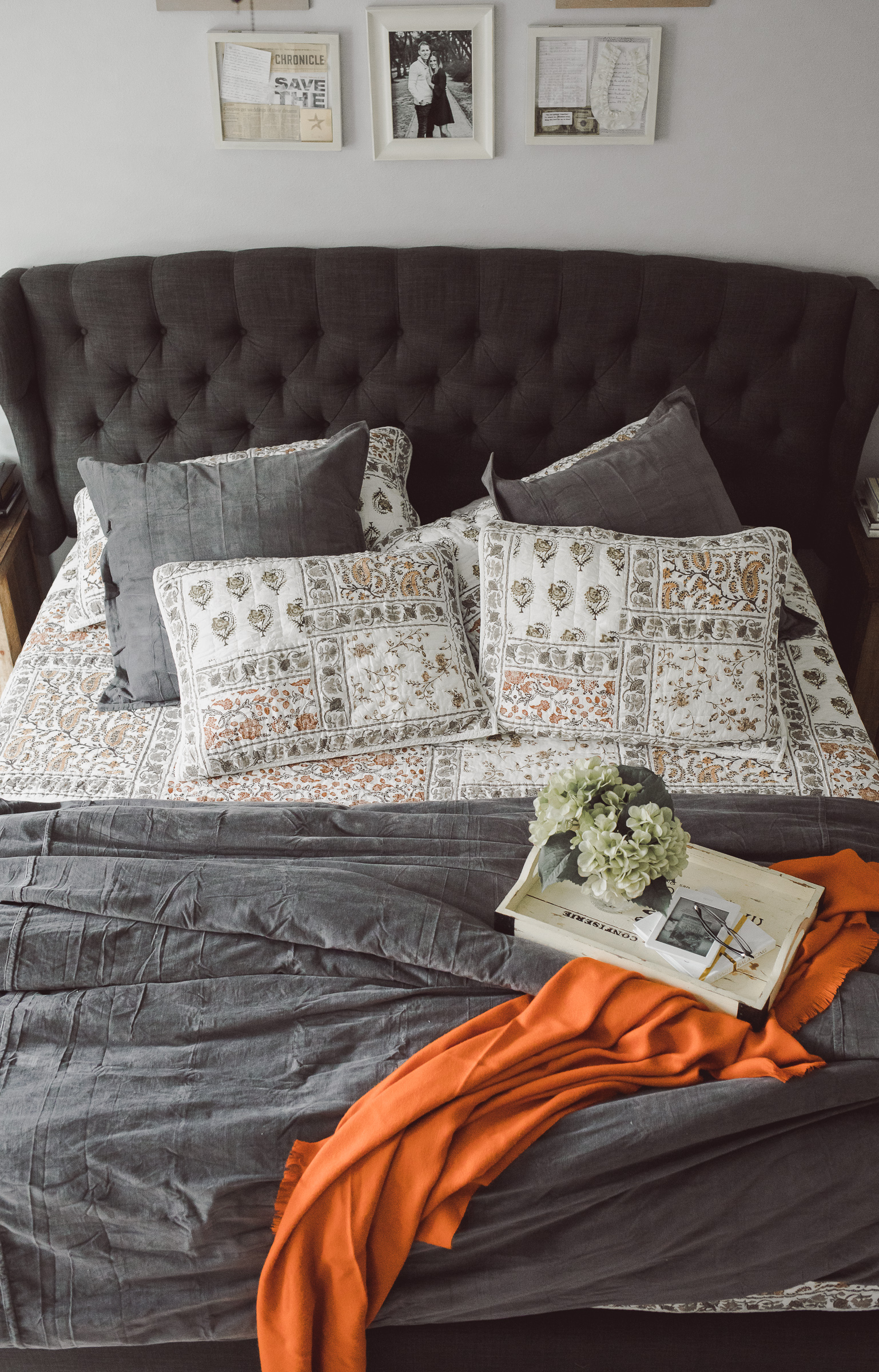 Houston lifestyle blogger Uptown with Elly Brown shares How To Update Your Master Bedroom For Fall and Winter.