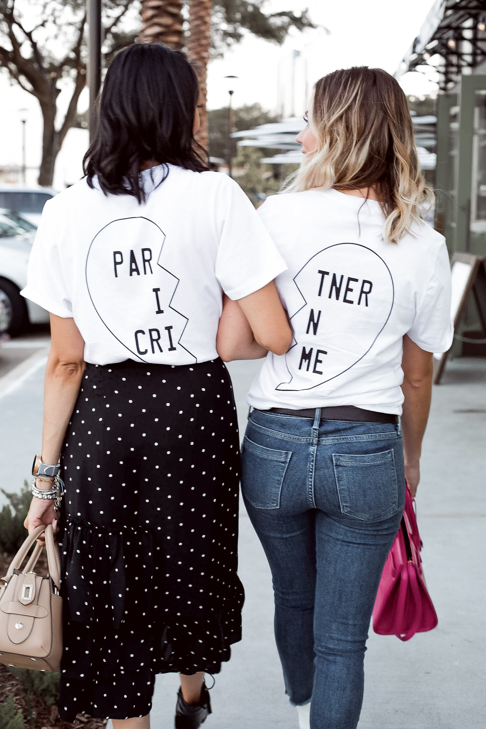 Houston Fashion blogger Uptown with Elly Brown wears a Prince Peter matching friends t-shirt.
