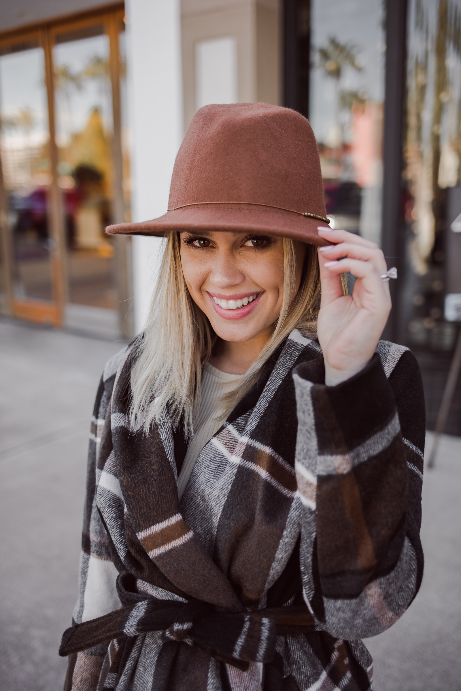 Houston fashion blogger Uptown with Elly Brown wears a Chicwish rabato coat for the winter