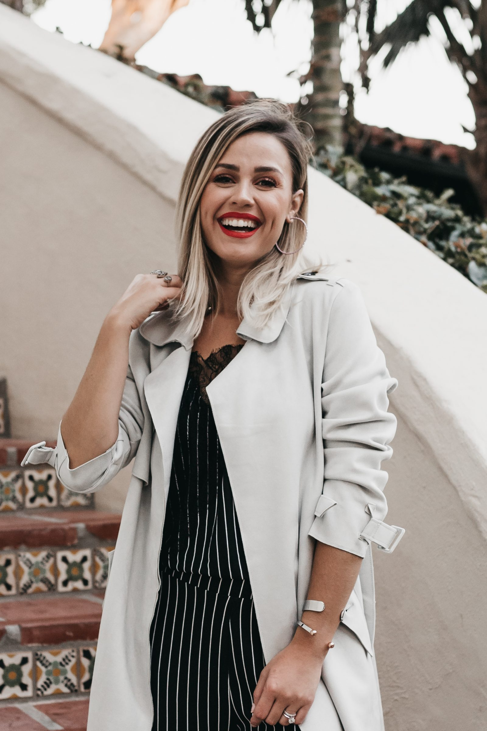 Houston fashion blogger Uptown with Elly Brown wears a suede coat from zara