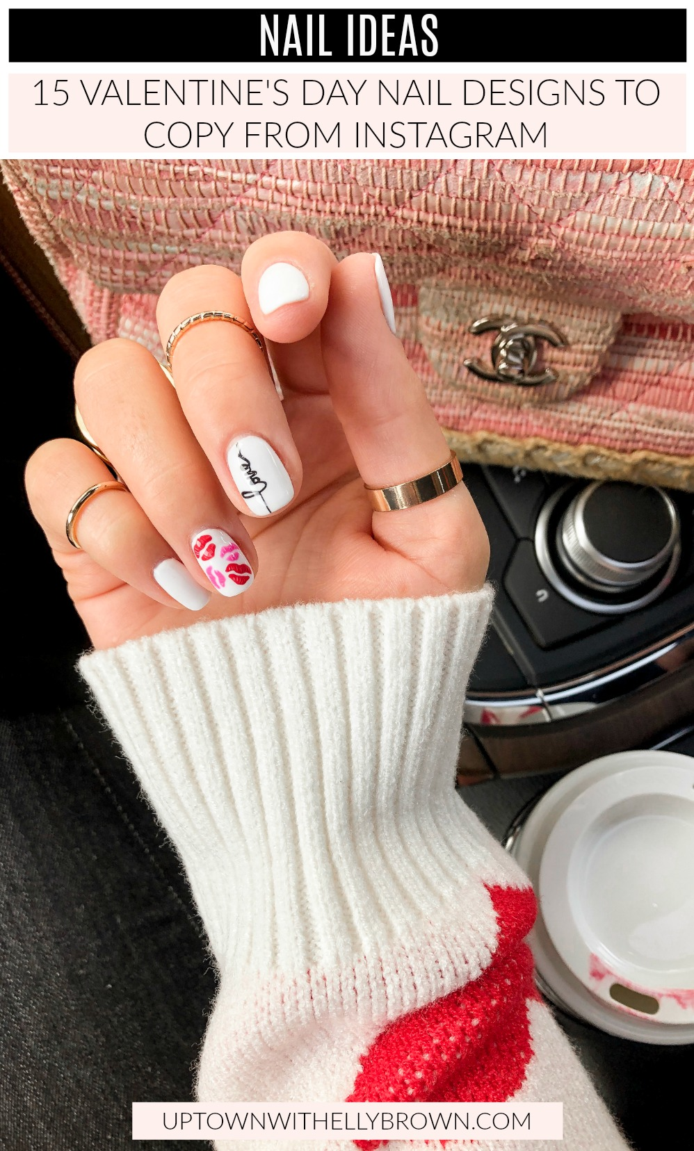 Looking for Nail Ideas for Valentine's Day? Houston blogger Uptown with Elly Brown shares 15 Valentine's Day Nail Designs from Instagram to copy!