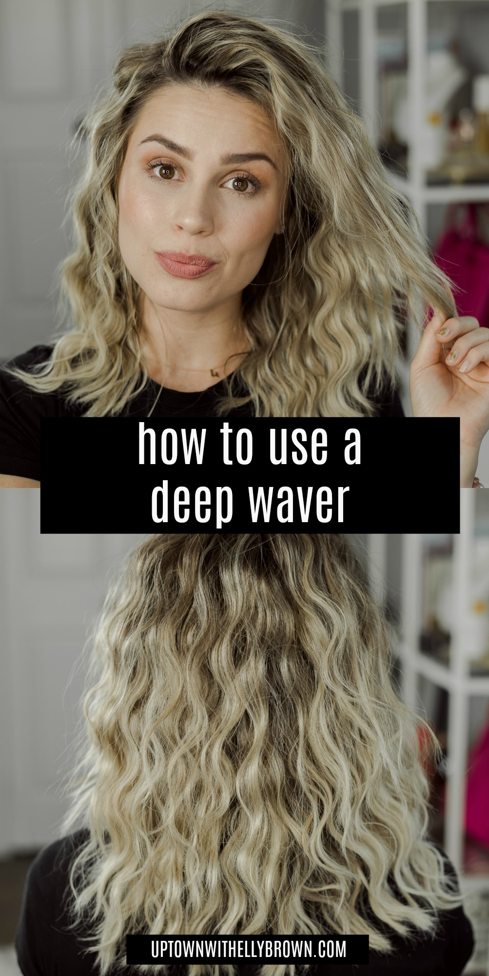 Houston beauty blogger Uptown with Elly Brown shares a review and how to use the Revlon Jumbo 3 Barrel Hair Waver for the perfect waves!