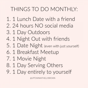 Houston lifestyle blogger Uptown with Elly Brown shares her monthly challenge for relationships!