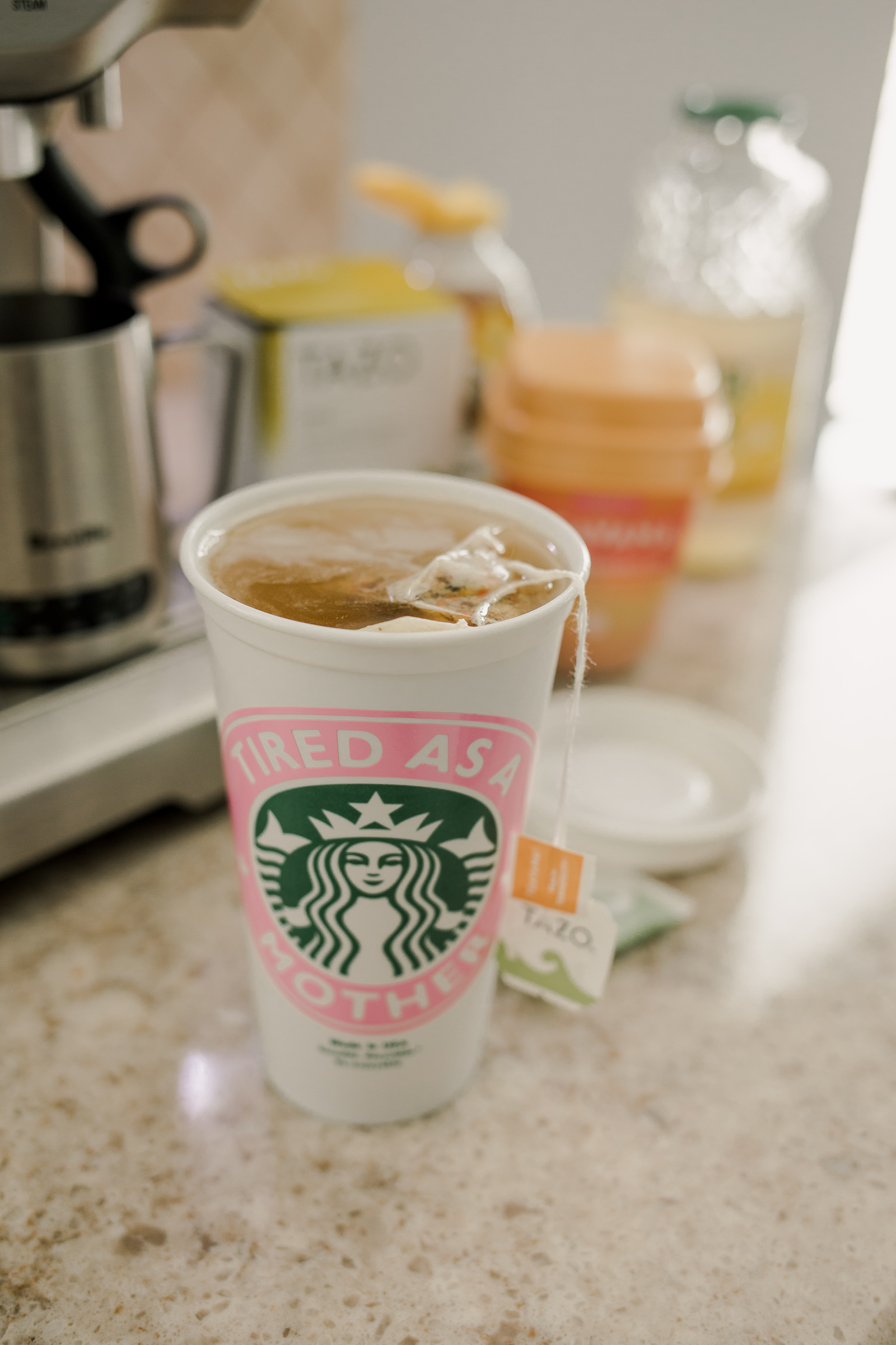 Houston lifestyle blogger Uptown with Elly Brown shares how easy it is to DIY Starbucks Medicine Ball tea.