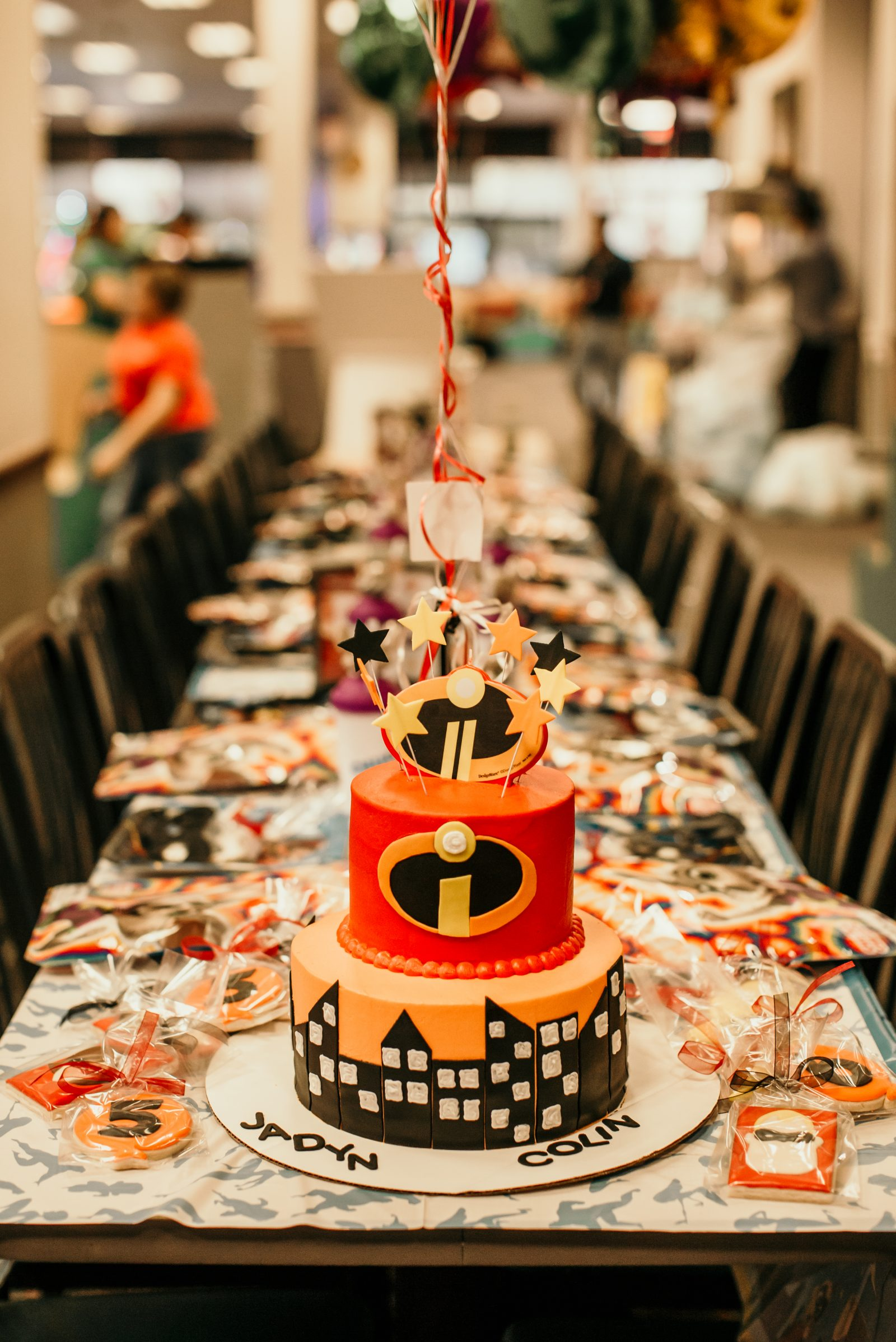 Houston blogger Elly Brown shares her Incredibles 2 birthday cake for her sons joint birthday party!
