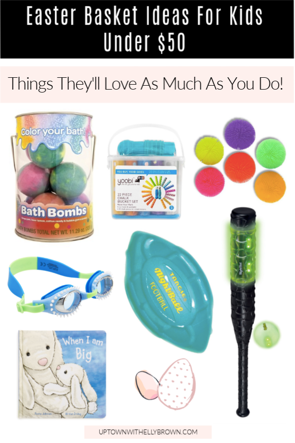 Looking for Easter Basket Ideas? Houston lifestyle blogger Uptown with Elly Brown shares Easter Basket Ideas For Kids they will LOVE