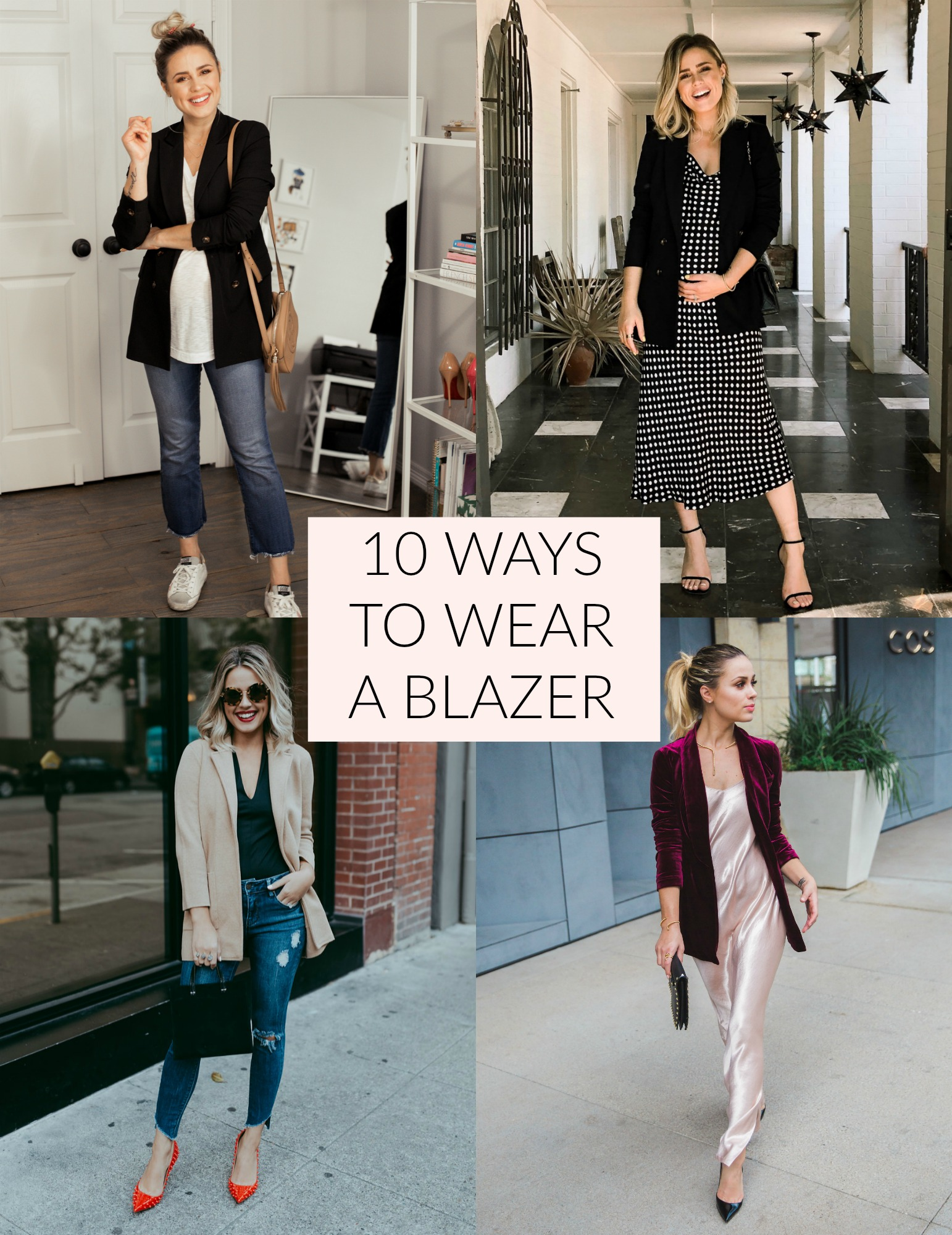Looking for ideas on How To Wear A Blazer? Houston fashion blogger Uptown with Elly Brown shares 10 different ways to dress your blazer.