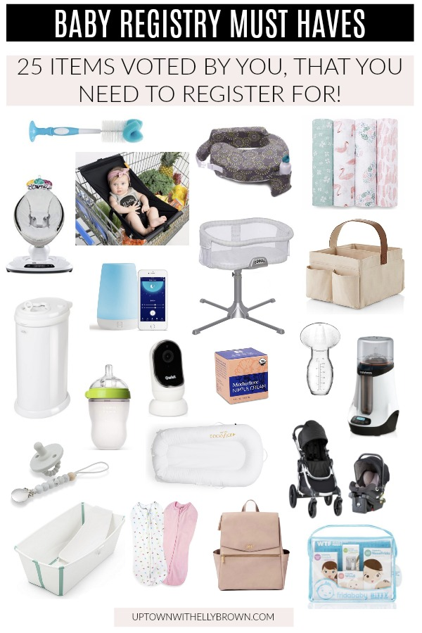 Houston blogger Uptown with Elly Brown shares her Baby Registry Must Haves. This list is great for the first time, or 4th time mom. See the list here!