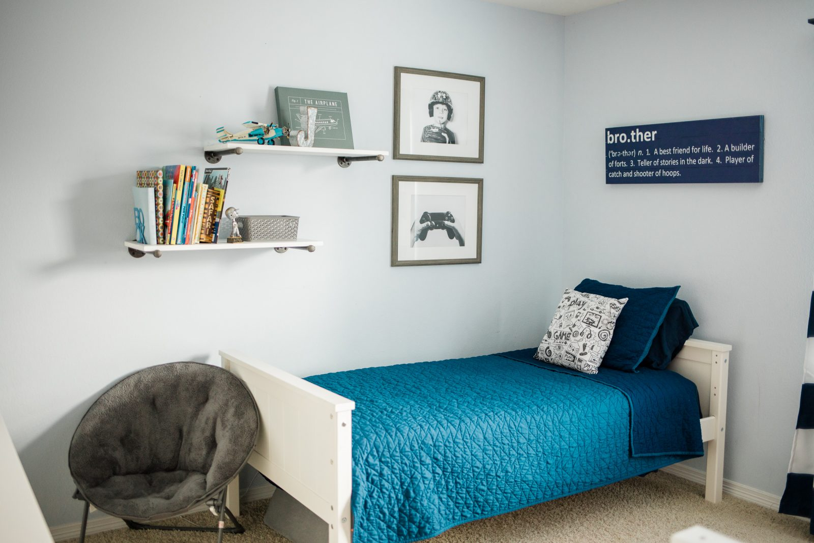 Houston lifestyle blogger Elly Brown shares her boys bedding from Target