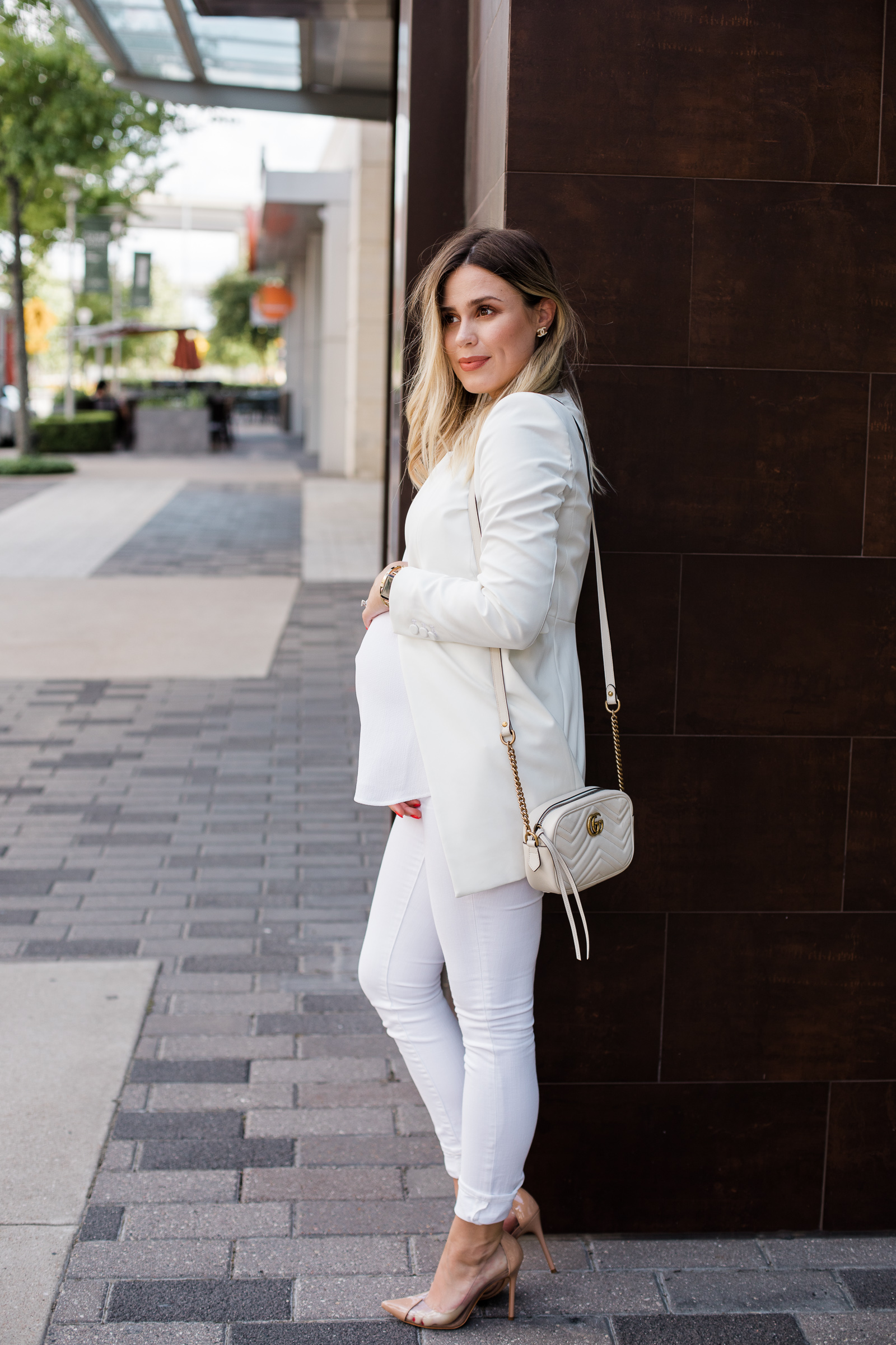 Houston fashion blogger Uptown with Elly Brown shares 2 All White Outfit ideas, and how to take it from day to night!