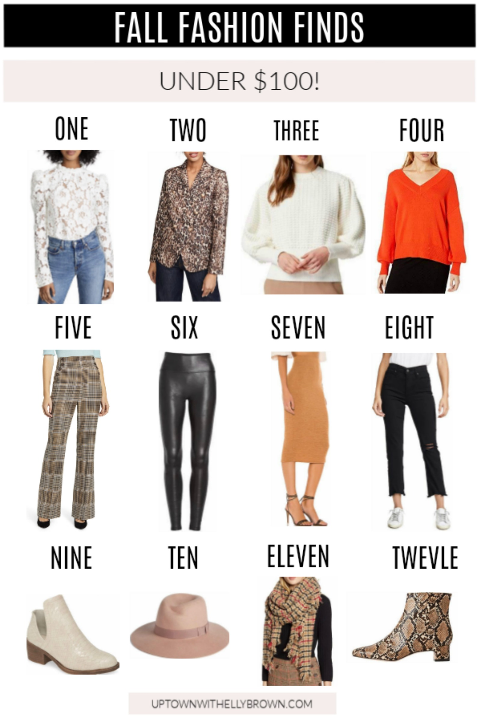 Looking for on trend clothing for fall? Houston fashion blogger Elly Brown shares over 15 Fall Fashion Items Under $100 to buy this season!