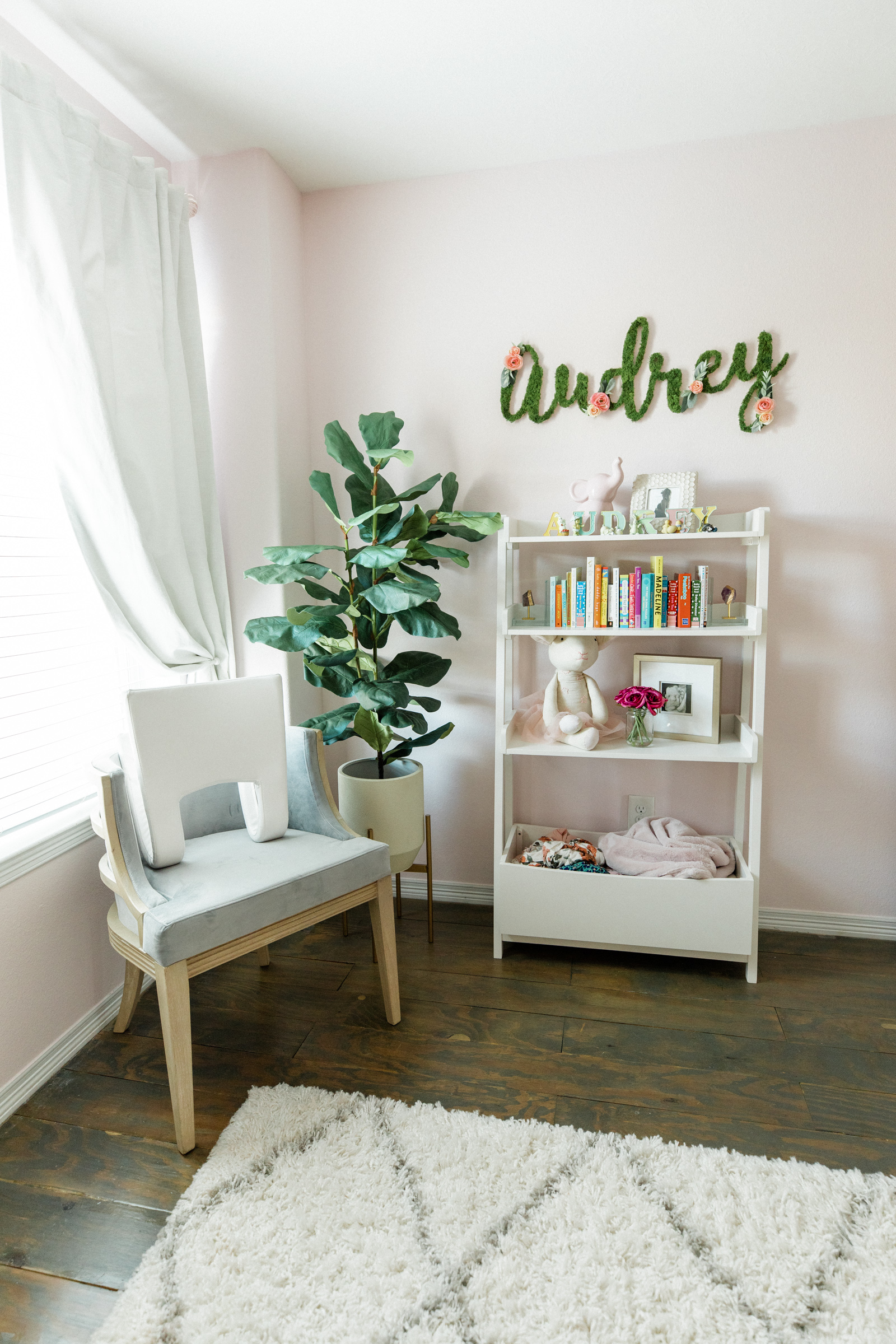 Houston lifestyle blogger Elly Brown shares the baby girl Nursery decor and Pottery Barn baby furniture