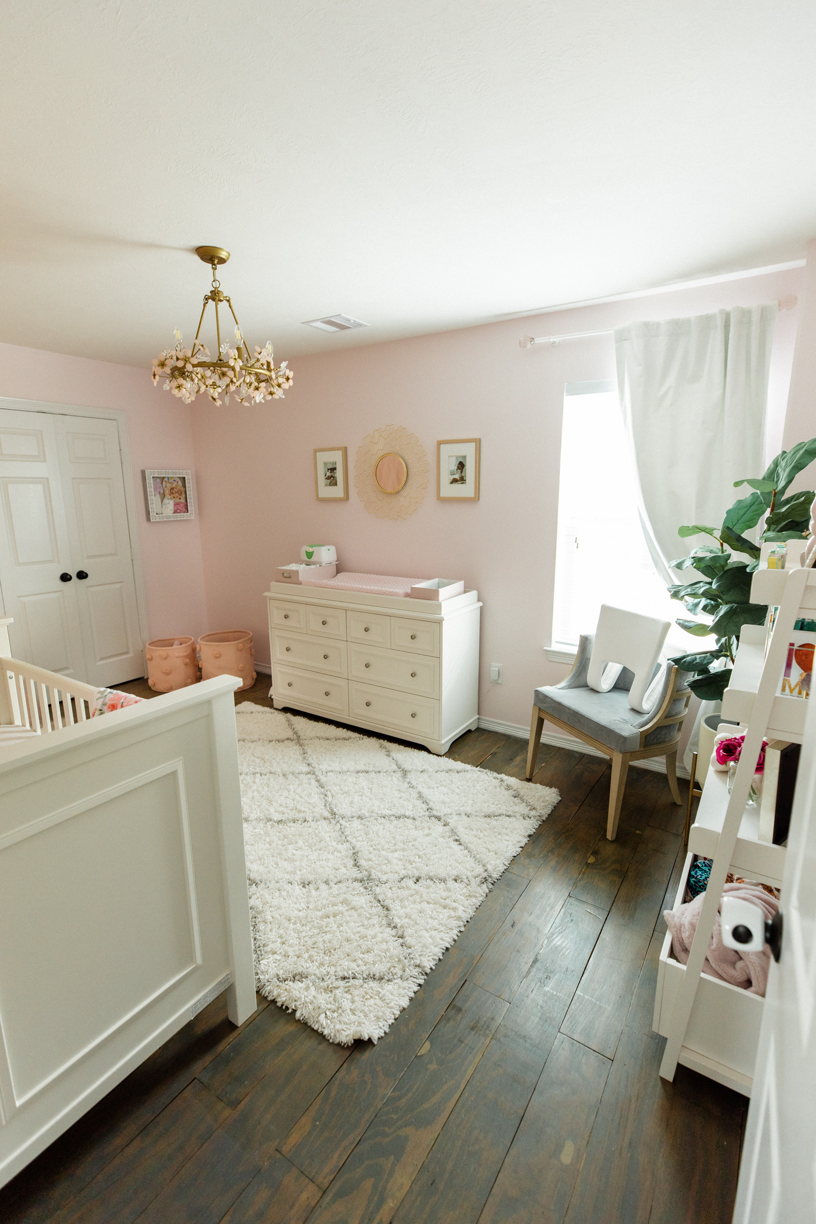 Looking for inspiration on baby nursery? Houston lifestyle blogger Uptown with Elly Brown shares her Baby Girl Nursery Decor.
