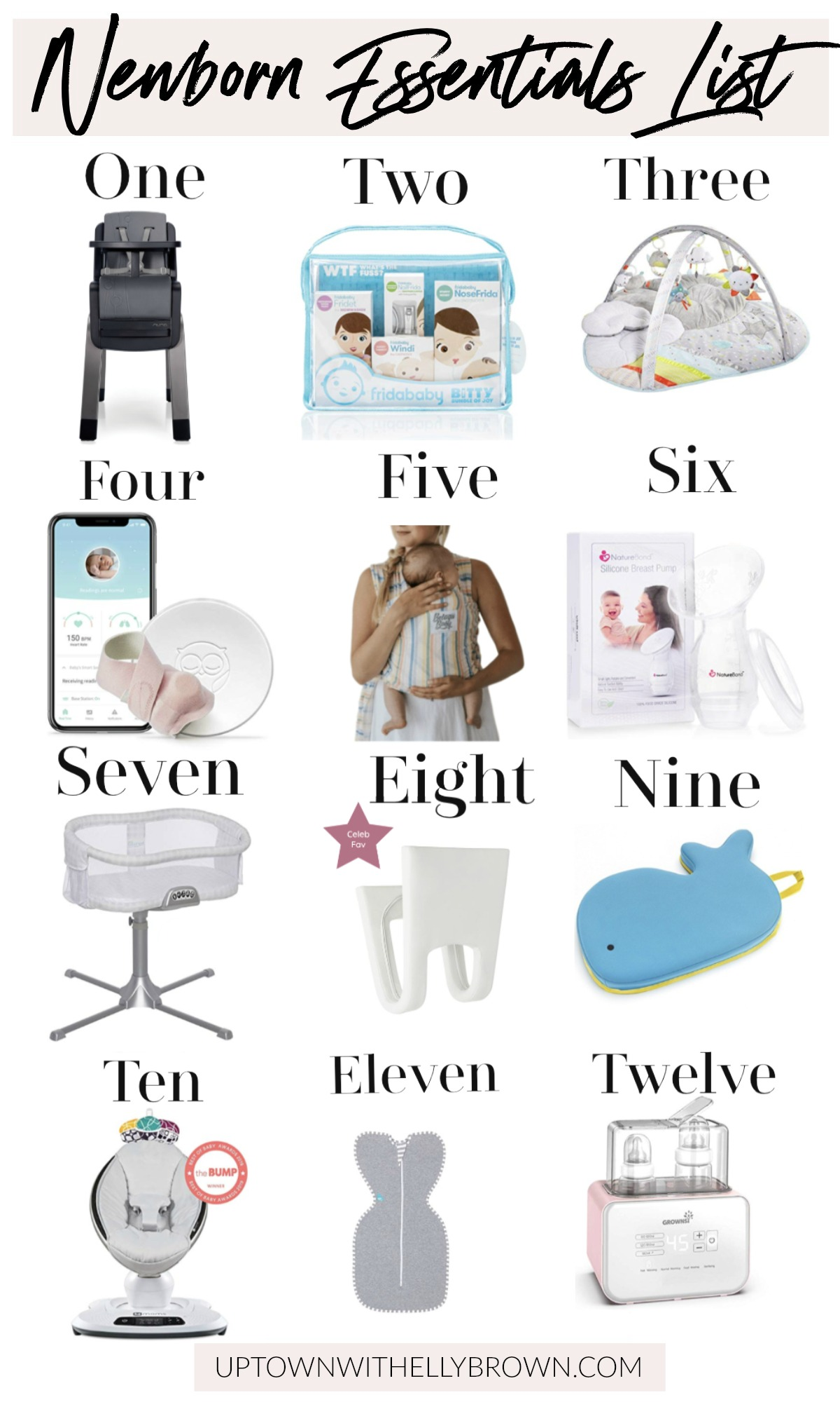 Are you having a baby and need help deciding what is a MUST HAVE? Houston mommy blogger Uptown with Elly Brown shares her Newborn Essentials list!