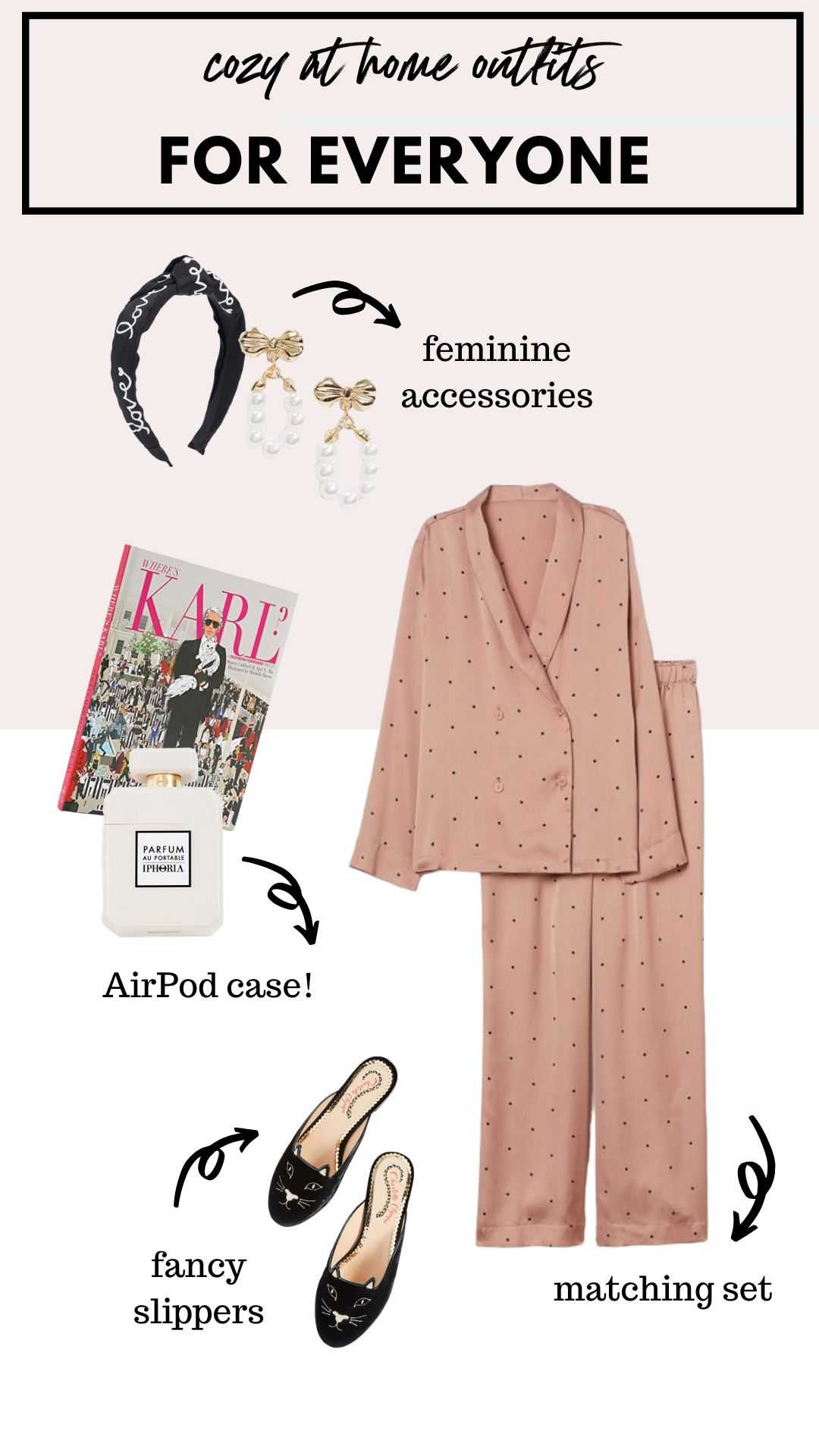 how to wear a matching silk pajama set at home