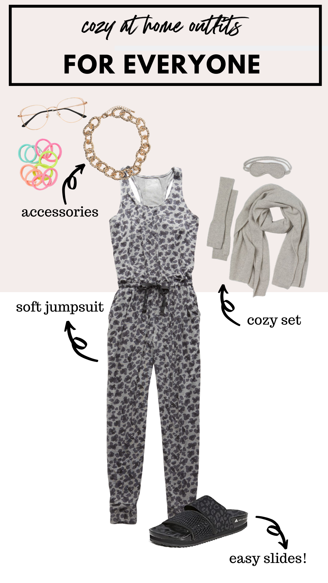 how to wear a cozy leopard jumpsuit at home