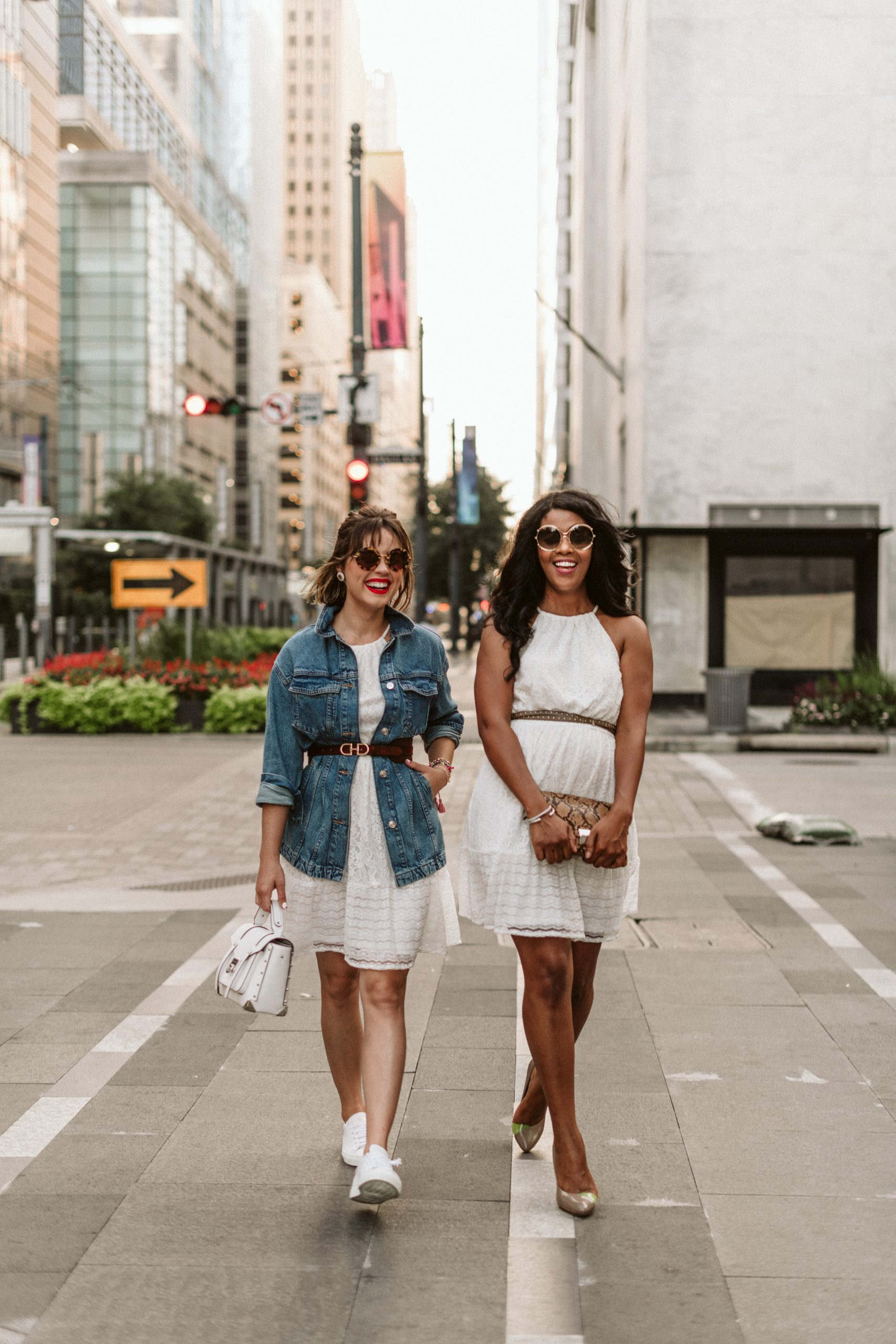 Looking for a cute and breezy White Lace Dress for summer? Elly Brown teams up with Daphne from Simply Daph to share how to style it two ways!
