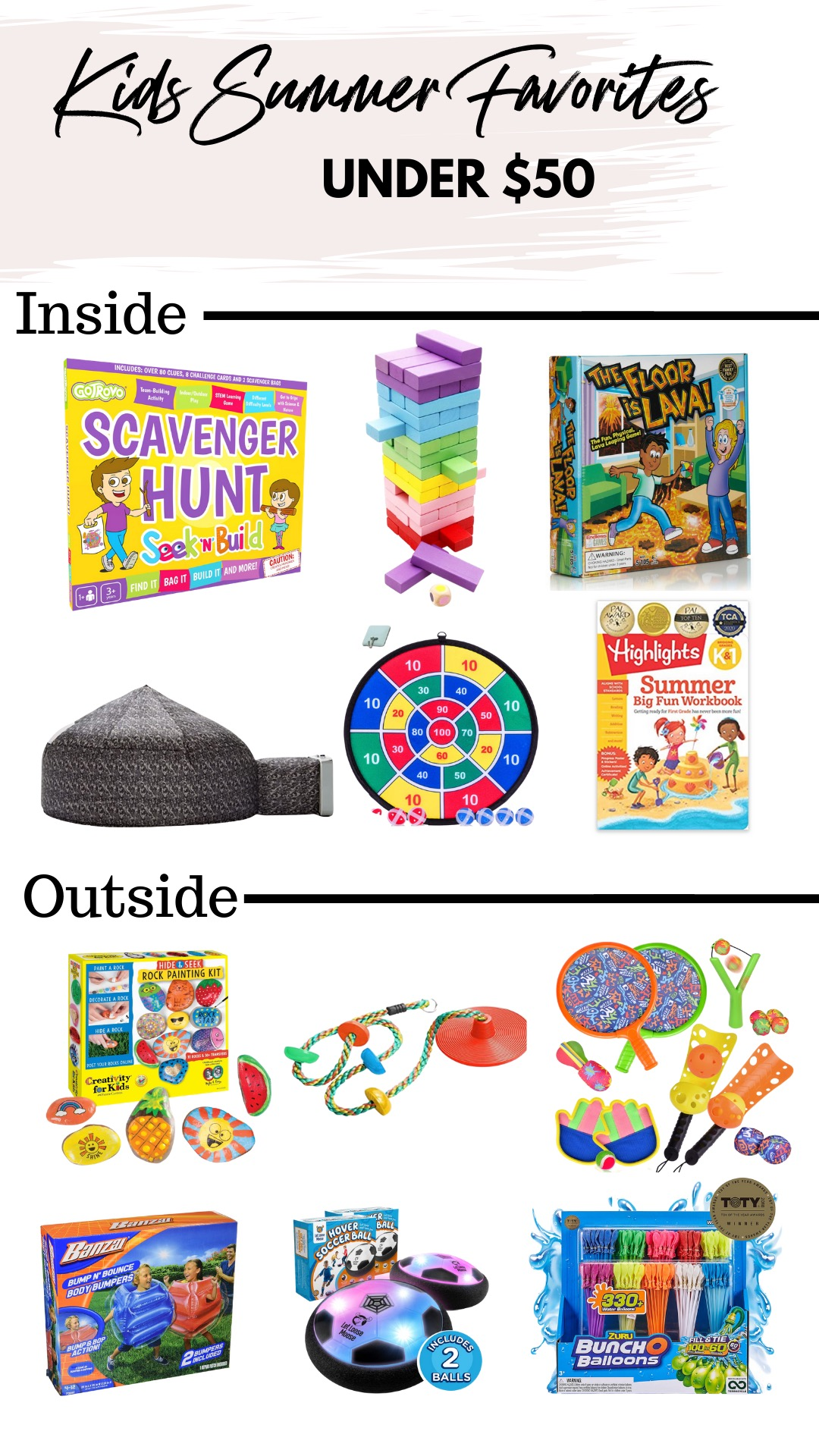 Are you trying to keep the kids busy while being suck at home? Elly Brown shares her favorite summer Items for kids for inside and outside the home!