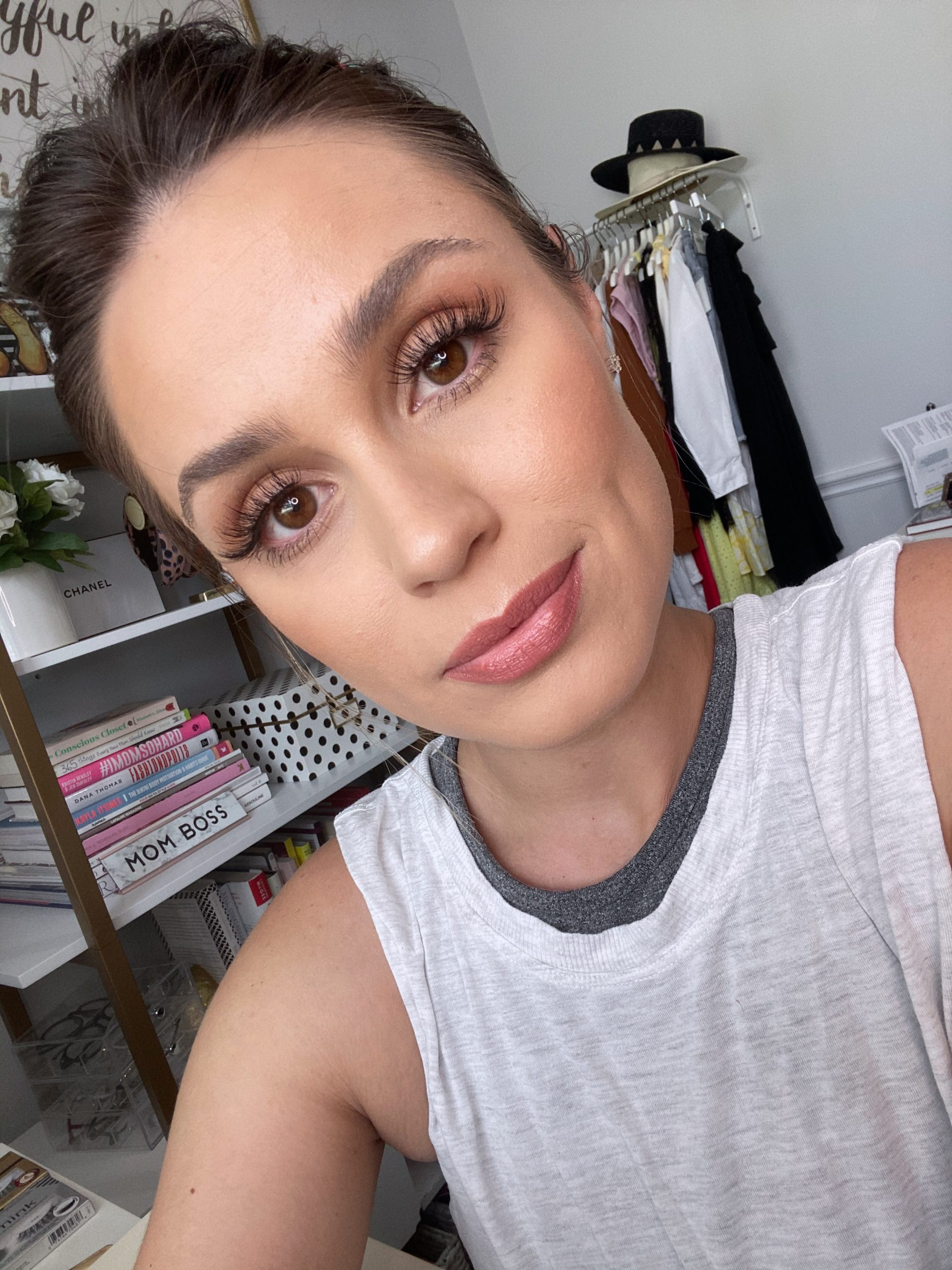 Elly Brown wears Drugstore lashes for under $10 in Ardell 778
