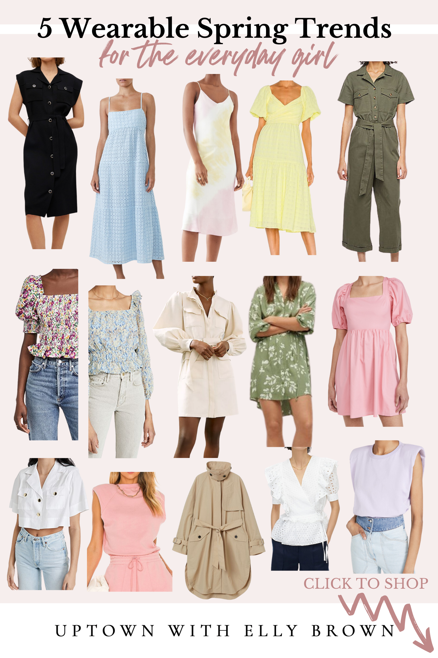 Looking for a breakdown in 2021 Spring Trends that you can ACTUALLY wear? Elly Brown is breaking it down with everything you need to know.