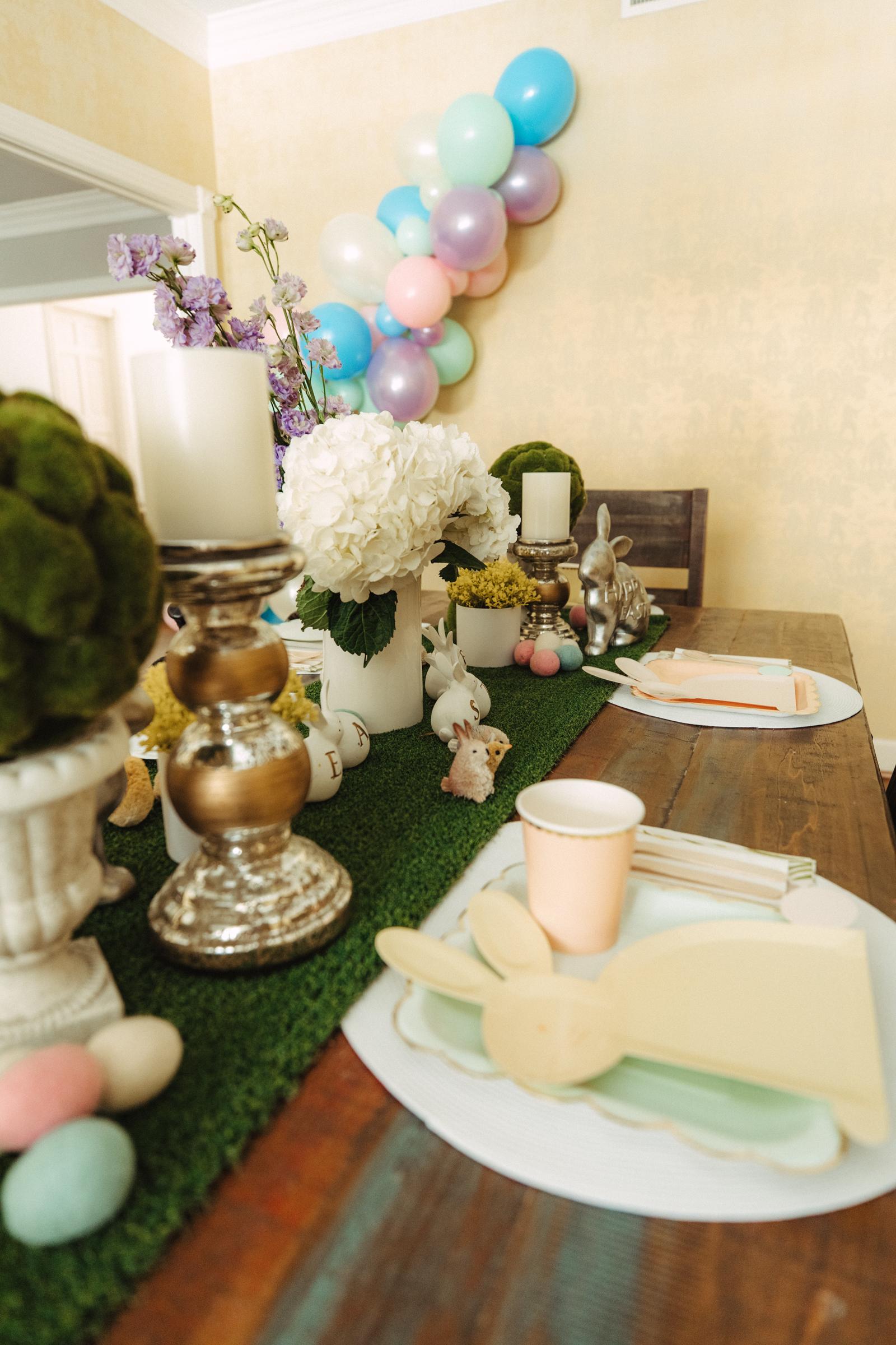 Easter table settings for kids
