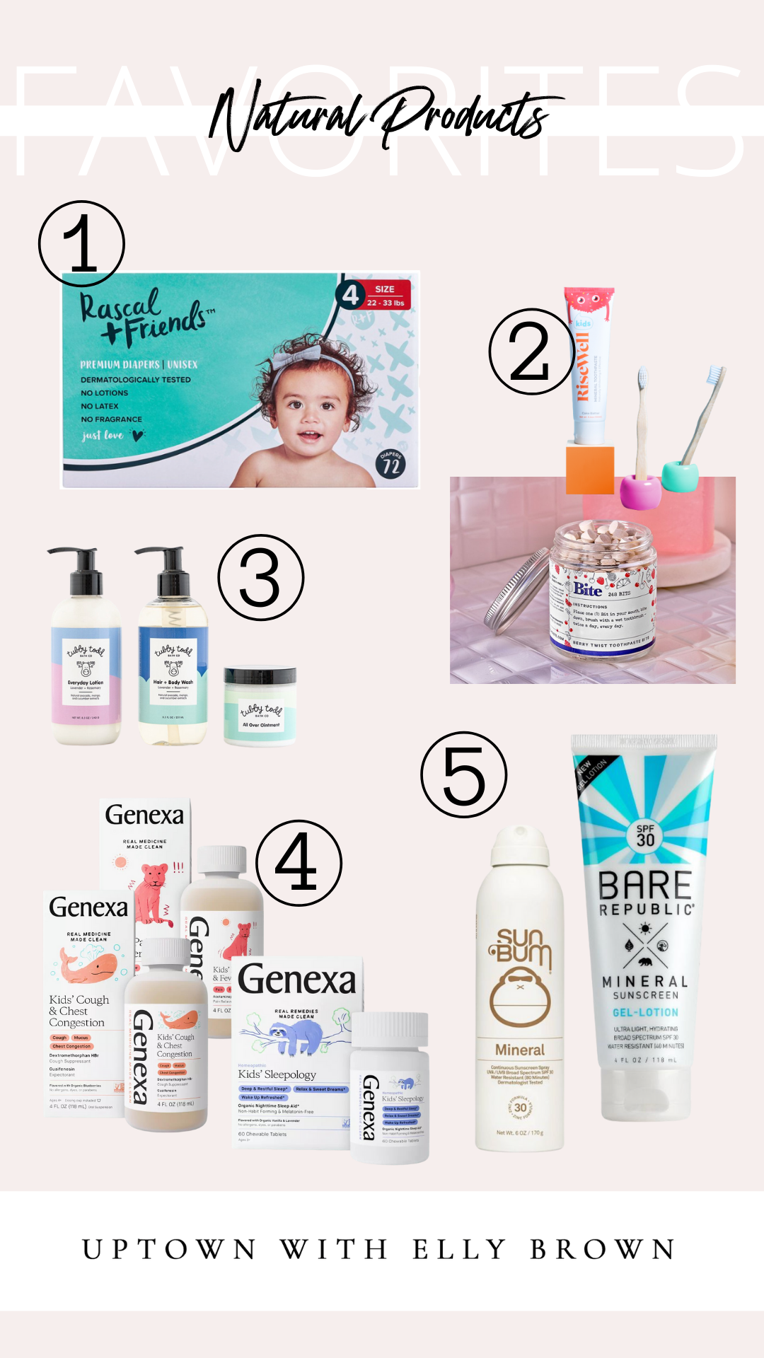 5 of the must-have Natural Products for babies and kids you wonder how you lived without them! Here you'll find products you'll use daily!