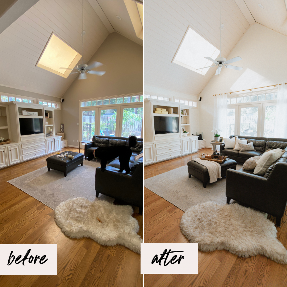 Looking for Sunroom Decorating ideas? Blogger Elly Brown shows her sunroom makeover and how she makes the space cozy and warm!